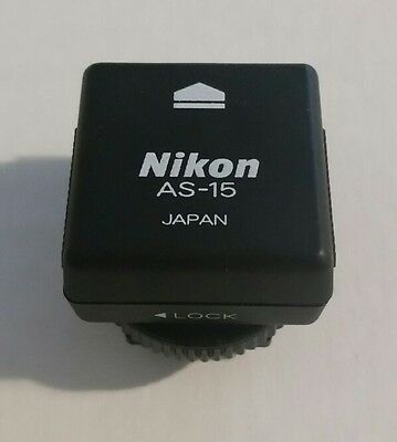 Nikon AS-15 PC Cord to Flash Adapter SYNC Terminal