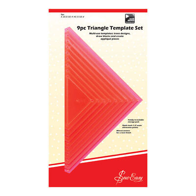 NEW Sew Easy ERGG08.PNK | Pink Triangle 9 Piece Template Set | 1-5in | FREE POST