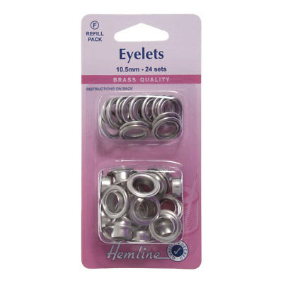 NEW Hemline H438PR.10.N | Nickel/Silver Eyelet Refill Pack | 24 Sets | FREE POST