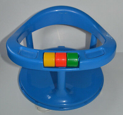 EUC Safety 1st First Blue Locking Swivel Baby Bath Tub Chair Seat Suction Ring