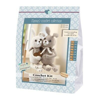 NEW Crochet Kits - Emily & Friends-The Rabbits Lilly & Tim 22Cm &22Cm |FREE POST