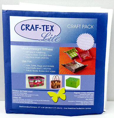 NEW Craftex 3510-01 | Polyester Sew in Medium Stiffness 68.6x91.4cm | FREE POST
