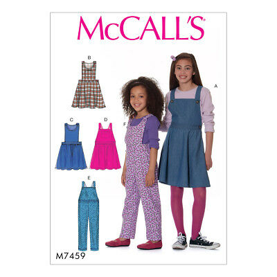 McCalls Sewing Pattern Childrens/Girls Jumpers and Overalls   M7459