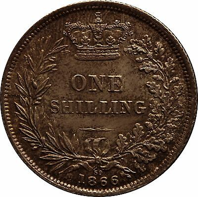1866 Shilling English Silver Coin From Victoria (1837-1901)