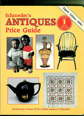 """Schroeder's Antiques Paperback Price Guide Eight Edition 1990 Large 8 1/2"""" X 11"""""""