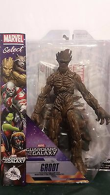 """Disney Store Guardians Of The Galaxy Marvel Select 10""""  Groot Action Figure New"""