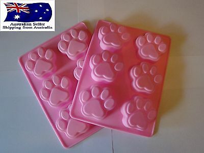 Paw Print Mould Dog Cat Paw Patrol Ice Chocolate Fondant Silicone Mold