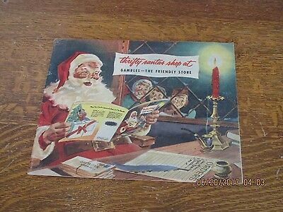 Gambles TOY Catalog 1953 Christmas Santas Shop Store Vintage