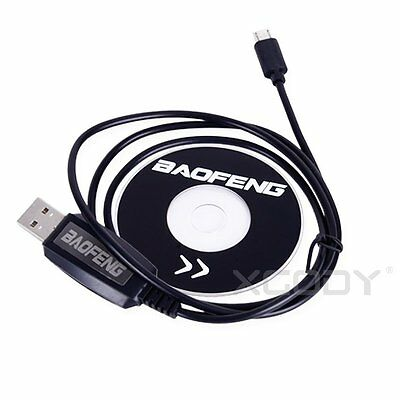 USB Programming Cable With CD For Baofeng BF-T1 Mini Walkie Talkie Radio New