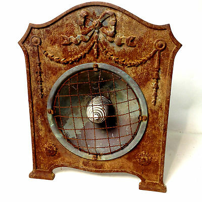 ANTIQUE ART NOUVEAU Cast Iron Electric Heater Rustic
