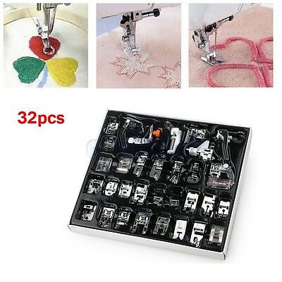 32pcs DIY sewing presser foot set for low shank embroidery machine accessory DT