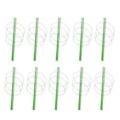 10 Sets Climbing Plants Support Vines Gardening Tool Green Stakes 60cm Long
