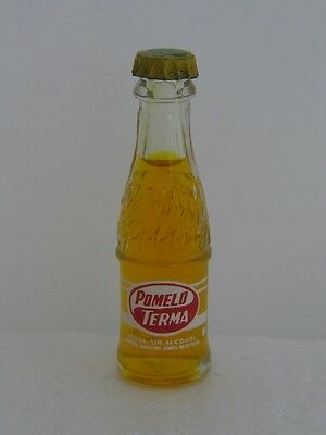 POMELO TERMA Miniature 2 5/8 inch Glass Bottle - New OLD STOCK