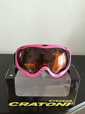 Cratoni Ice Cube, pink shiny, Skibrille - 60%, TOP Aktion!!!
