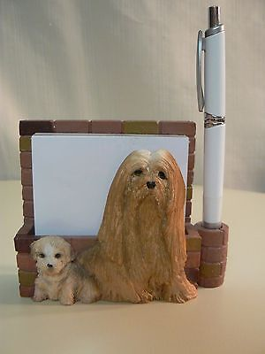 E&S Imports LHASA APSO MAGNETIC NOTE PAD & Pen NEW #46480-23 or DESKTOP