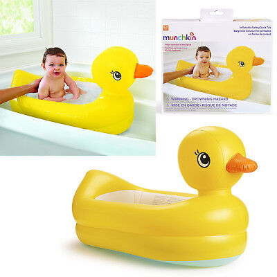 Munchkin White Hot Duck Tub Padded Interactive Inflatable Bath Kids Home Travel