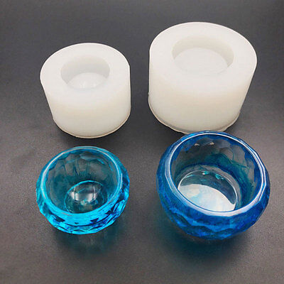 Silicone Bowl Crystal Pendant Mold Craft Making Mould Resin Jewelry Tool