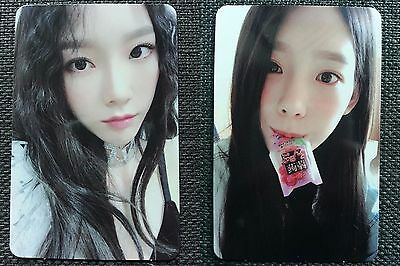 LOT of 2 SNSD TAEYEON Official PHOTOCARD #1 #2 6th Album Holiday Night 태연