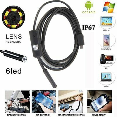 1M/1.5M 7mm 6 LED USB Endoscope Endoskop Wasserdicht Inspection Rohrkamera Video