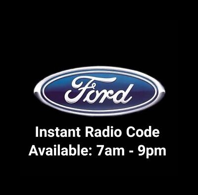 Ford V Radio Code -  Fiesta - Focus - Mondeo - Transit - Galaxy 6000cd 6006cdc