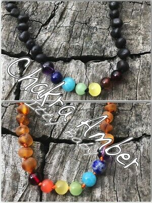 NEW Chakra Baltic Amber Necklace for Baby, Child, Toddler
