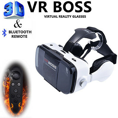 c0886559e04 3D VR Boss Headset Virtual Reality Glasses For iPhone 6S 7 Plus+Controller
