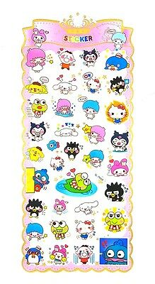 Sanrio Mixed Characters Pvc Sticker/diy Scrapbook/cellphone Sticker/kids Gift