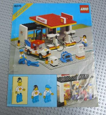 LEGO INSTRUCTIONS MANUAL BOOK ONLY 6378 Service Station Holes x1PC