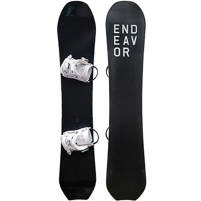 New ENDEAVOR SCOUT MAGNUM WHITE SNOWBOARD PACKAGE 160CM - DEMO