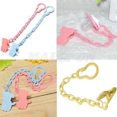 3Pcs Baby Kids Dummy Pacifier Soother Nipple Leash Strap Chain Clip Holder Gifts