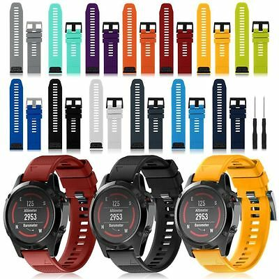 Silicone Quick Install Band Wrist Strap For Garmin Fenix 3 / 5X GPS Watch C