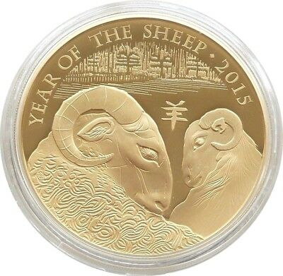 2015 British Lunar Sheep £2 Two Pound Silver Gold Proof 1oz Coin Box Coa