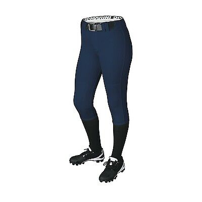 (Small, Navy) - DeMarini Girls Belted Pant. Best Price