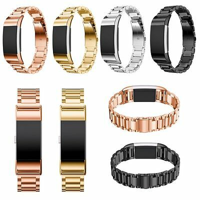 Luxury Stainless Steel Replacement Watch Wrist Strap Band fr Fitbit Charge 2