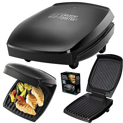 George Foreman 4Portion Family Health Grill Toster Meat Fish Vegetables Sandwich