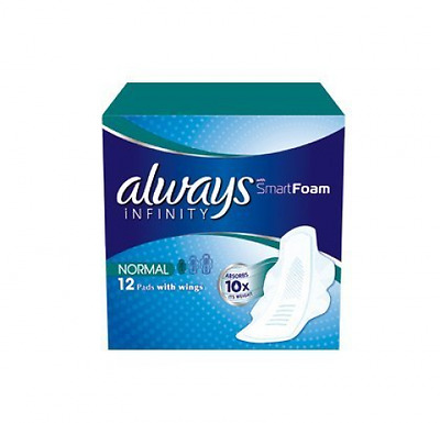 Always Infinity 12 tampons hygiéniques normal avec ailes