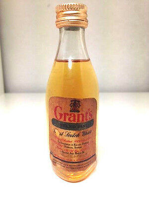 Grants Stand Fast Finest Scotch Whisky Rare 1970's Miniature