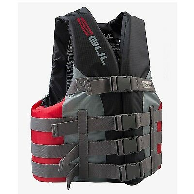 (X-Large, Black / Red) - Gul Impact Vest. Best Price