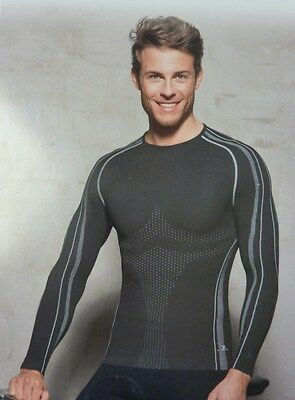 BNWT Men's Cycling Breathable Base Layer Top Grey or Navy Sizes M, L, XL