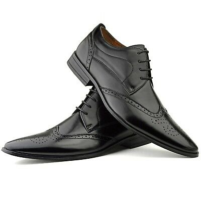 New Mens Smart Office Wedding Shoes Vintage Retro Work Casual Formal Party Size