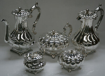 James Dixon and Sons Five Piece Tea/Coffee Service Silver Plated EPBM
