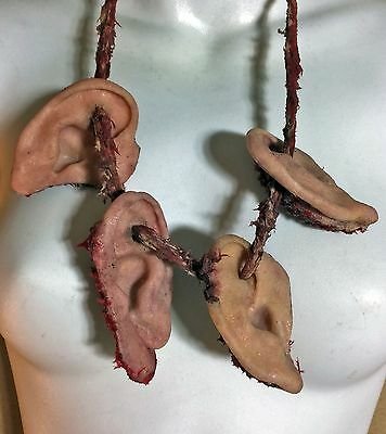 Prosthetic silicone SFX severed ear necklace