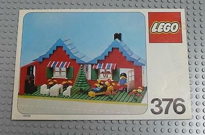 LEGO INSTRUCTIONS MANUAL BOOK ONLY 376 Town House with Garden  x1PC