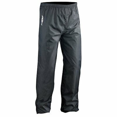 IXON COMPACT Black Motorcycle Rain Trousers Waterproof Lightweight with Bag