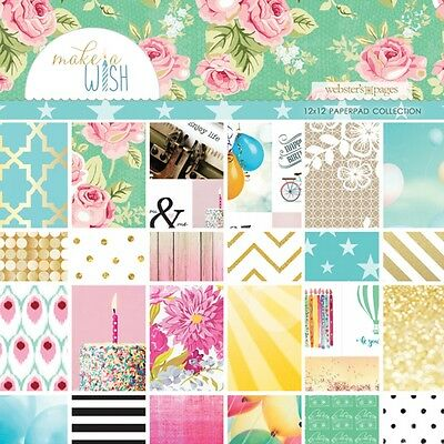 Webster Pages 12X12 Paper Pad- Make A Wish