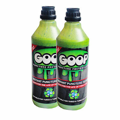 Goop Tyre Sealant / Puncture Preventative / Tyre Sealant / 2 Litres / UK Made