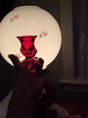 """Vintage """"Ganz"""" Ruby Red Pressed Glass Candle Holders 1950's"""