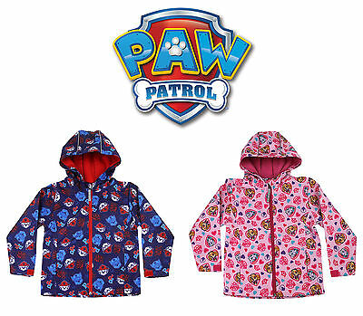 Paw Patrol Kids Soft Shell Jacket Lightweight Sower Proof Coat - Boys & Girls