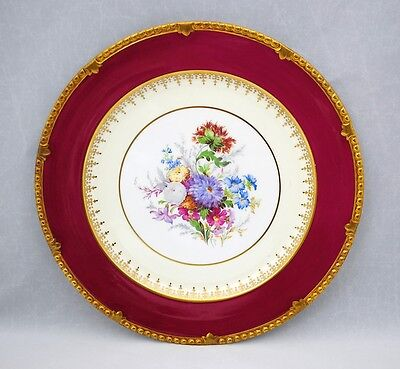 Paragon 10.75 inch Dinner or Cabinet Plate Floral and Gold Border