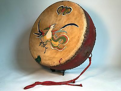 Antique / Rare Chinese Tack Tom Tom 40cm Drum - Very Old, Beautiful Piece